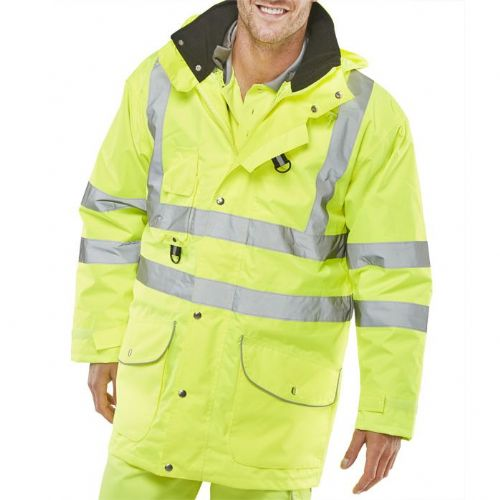 BSeen Hi Vis Yellow Elsener 7 in 1 Jacket